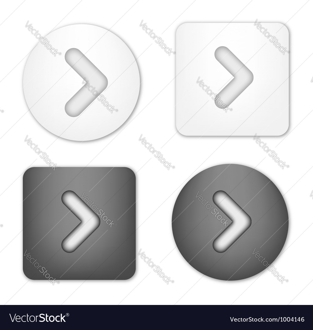 Arrow navigation buttons vector | Price: 1 Credit (USD $1)