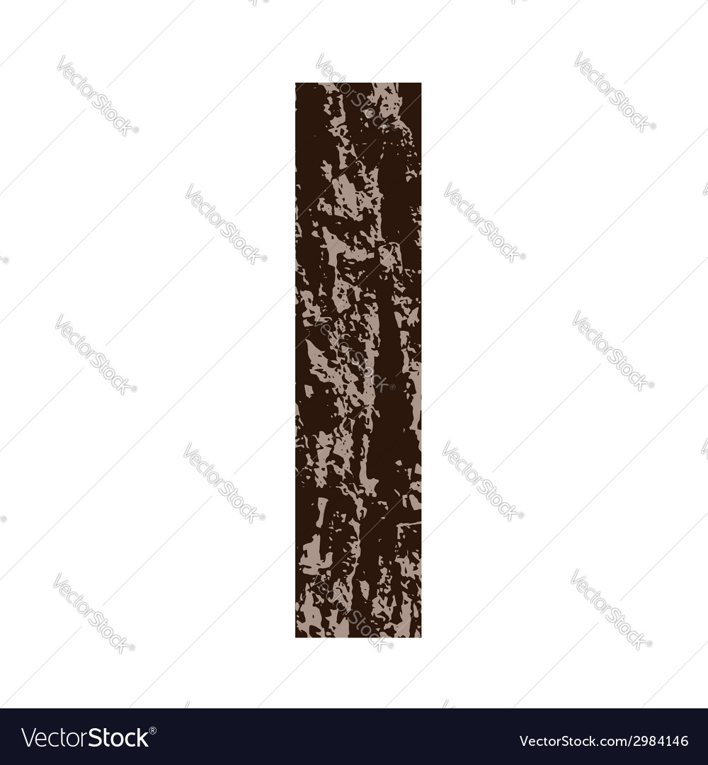 Bark letter i vector | Price: 1 Credit (USD $1)