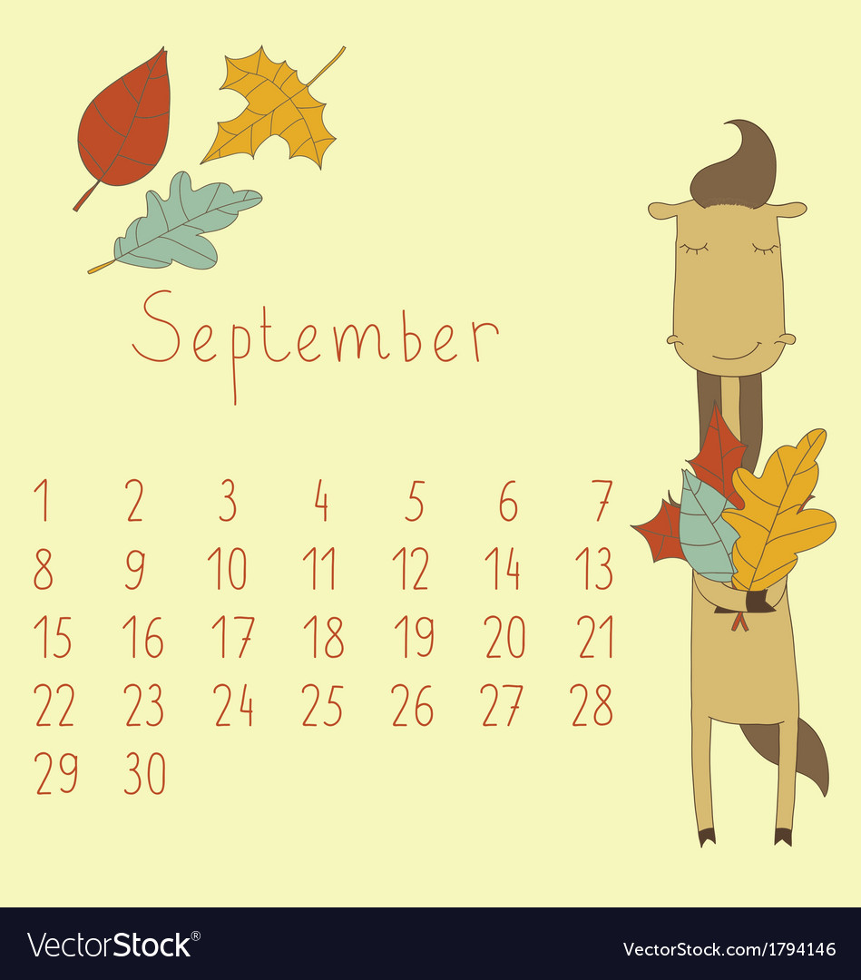 Calendar for september 2014 vector | Price: 1 Credit (USD $1)