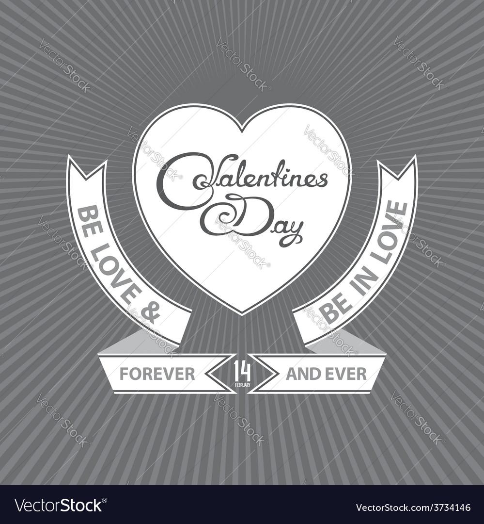 Heraldic valentines day design vector   Price: 1 Credit (USD $1)