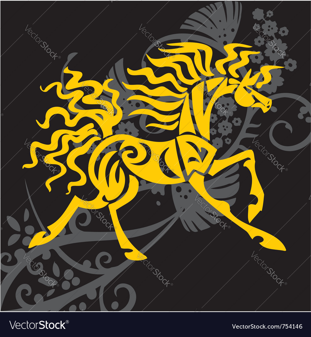 Horse design - vector | Price: 1 Credit (USD $1)