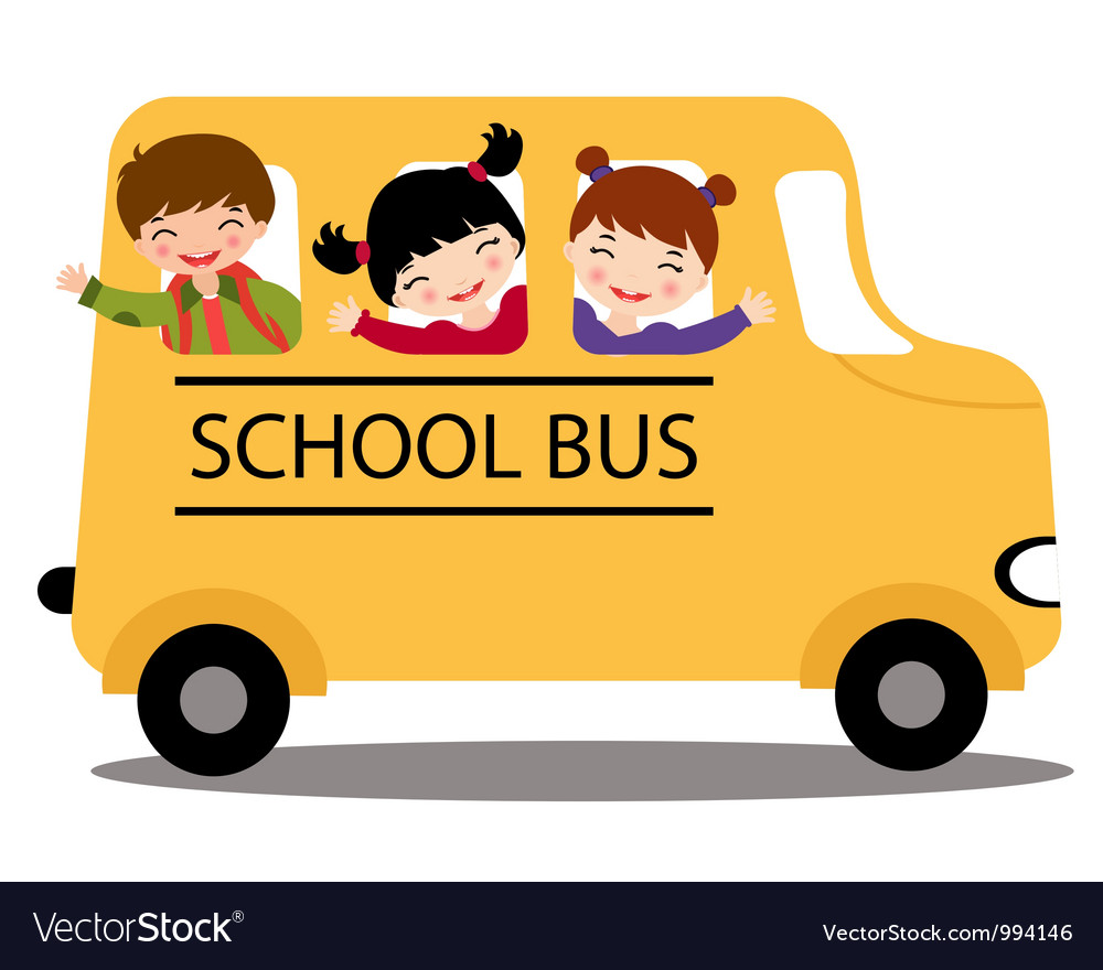 Kids in school bus vector | Price: 3 Credit (USD $3)