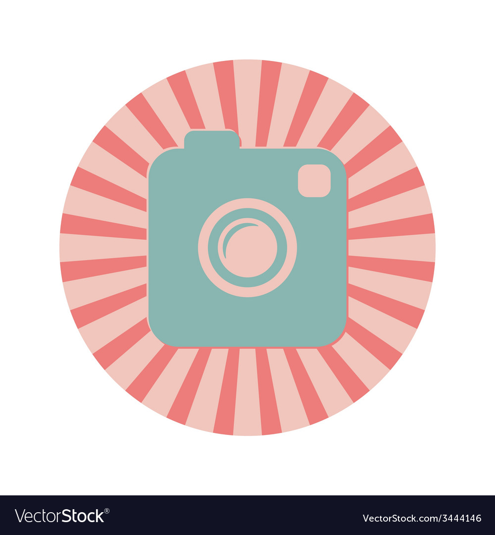 Photo or video camera vintage style icon vector | Price: 1 Credit (USD $1)