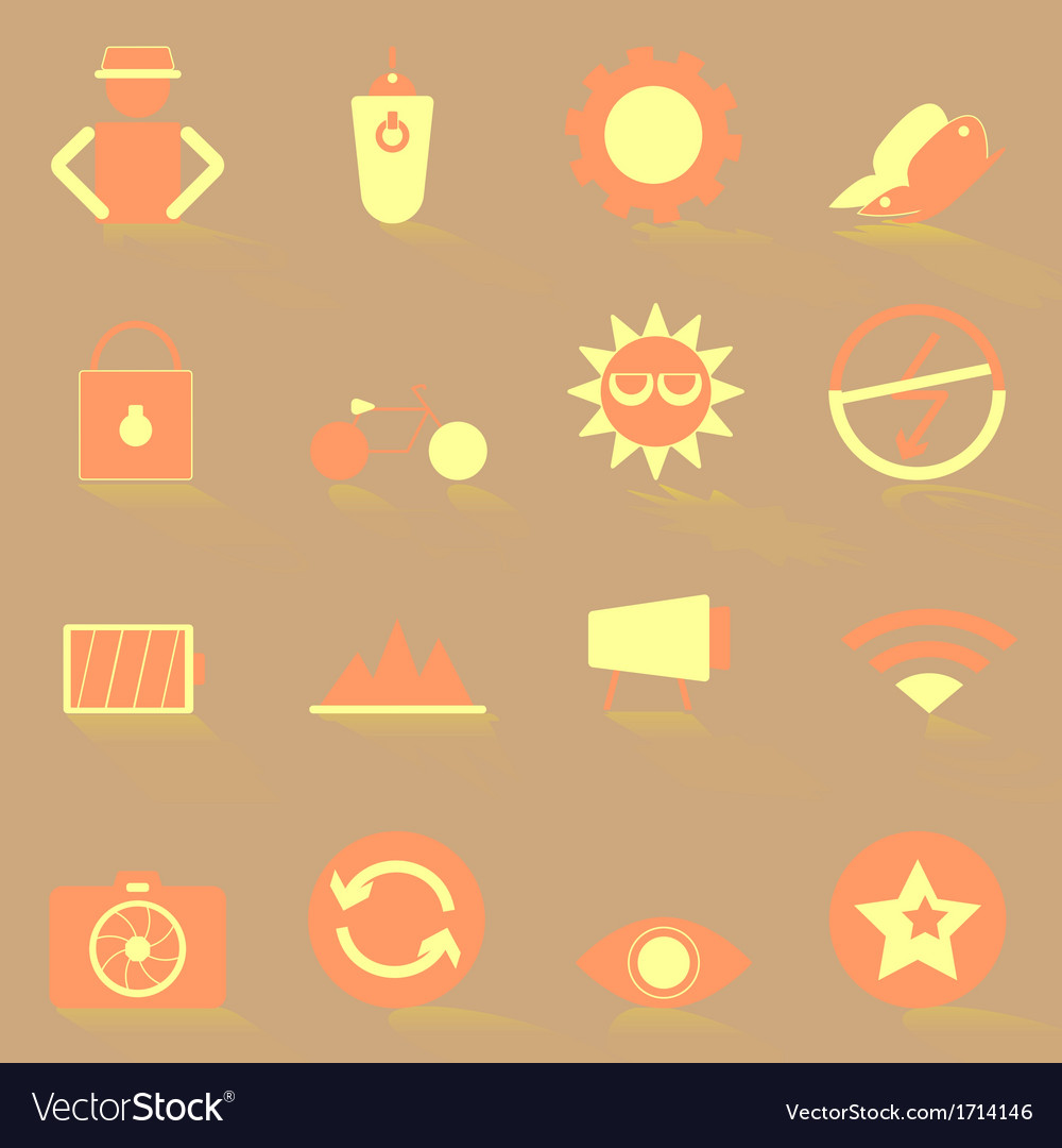 Photography color icons with shadow vector | Price: 1 Credit (USD $1)
