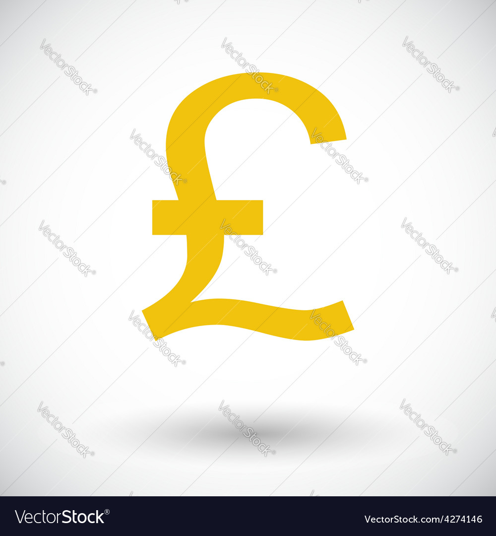 Pound sterling icon vector | Price: 1 Credit (USD $1)