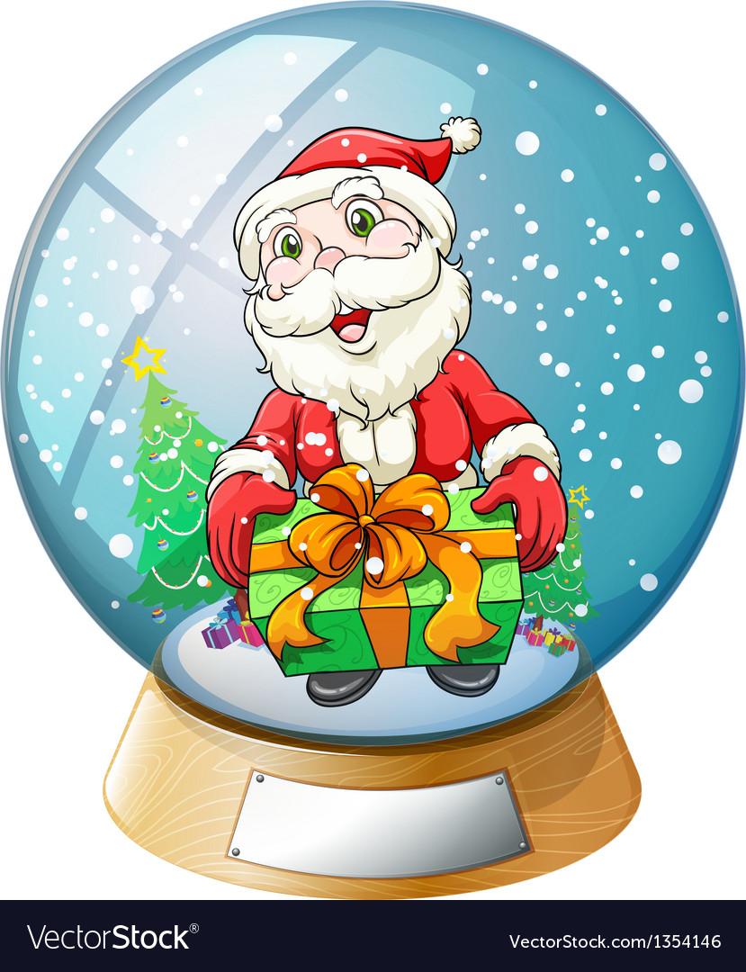 Santa claus crystal ball vector | Price: 1 Credit (USD $1)