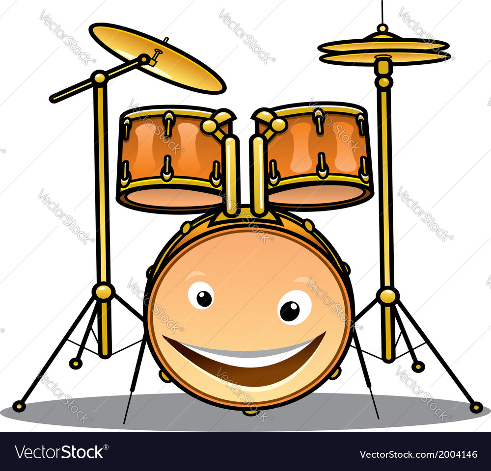 Set of drums and cymbals for a band vector | Price: 1 Credit (USD $1)