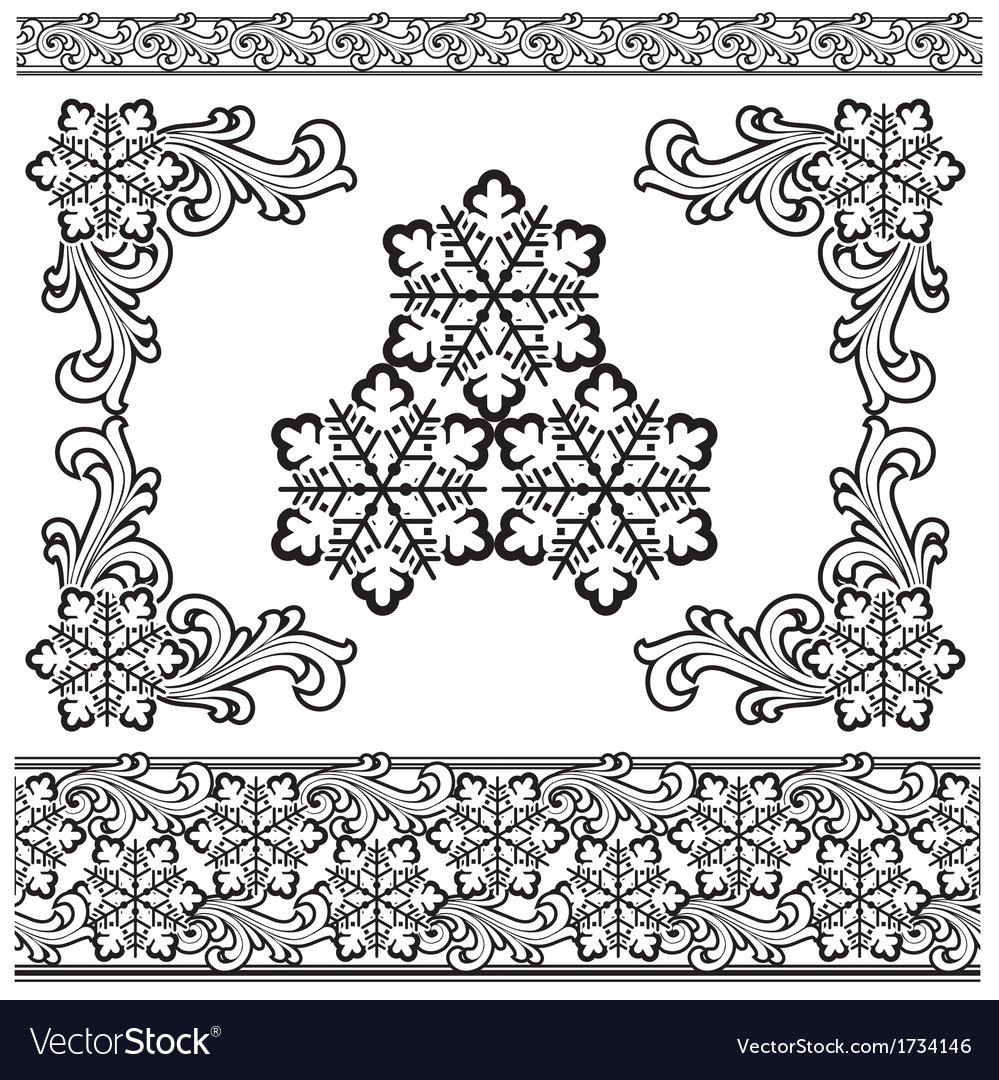 Winter design elements vector | Price: 1 Credit (USD $1)