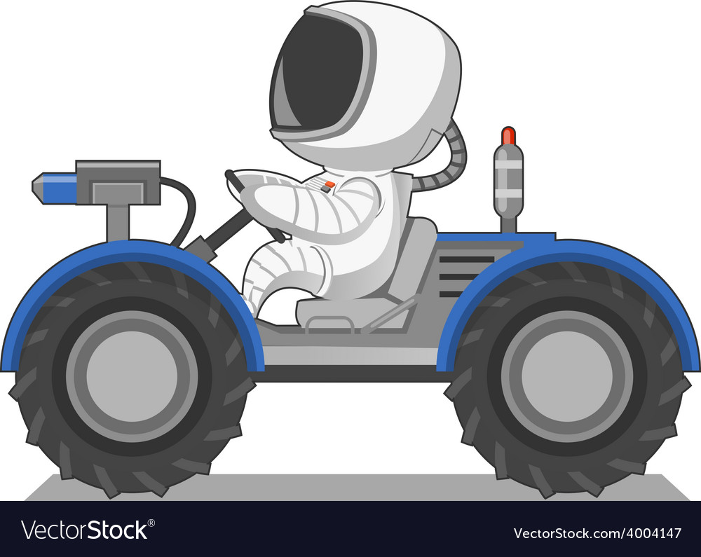 Astronaut on the lunar rover vector | Price: 1 Credit (USD $1)