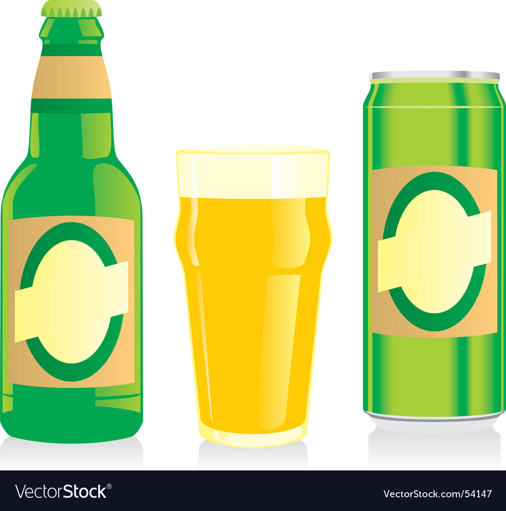 Beer bottle glass and wine vector | Price: 1 Credit (USD $1)
