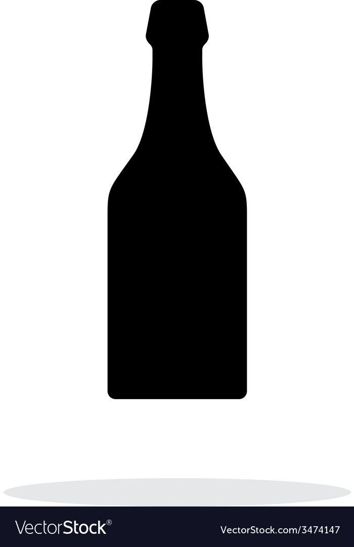 Beer bottle simple icon on white background vector | Price: 1 Credit (USD $1)
