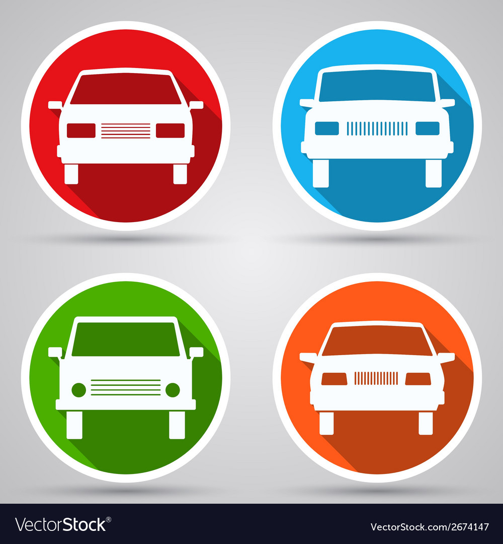 Cars flat icons vector | Price: 1 Credit (USD $1)
