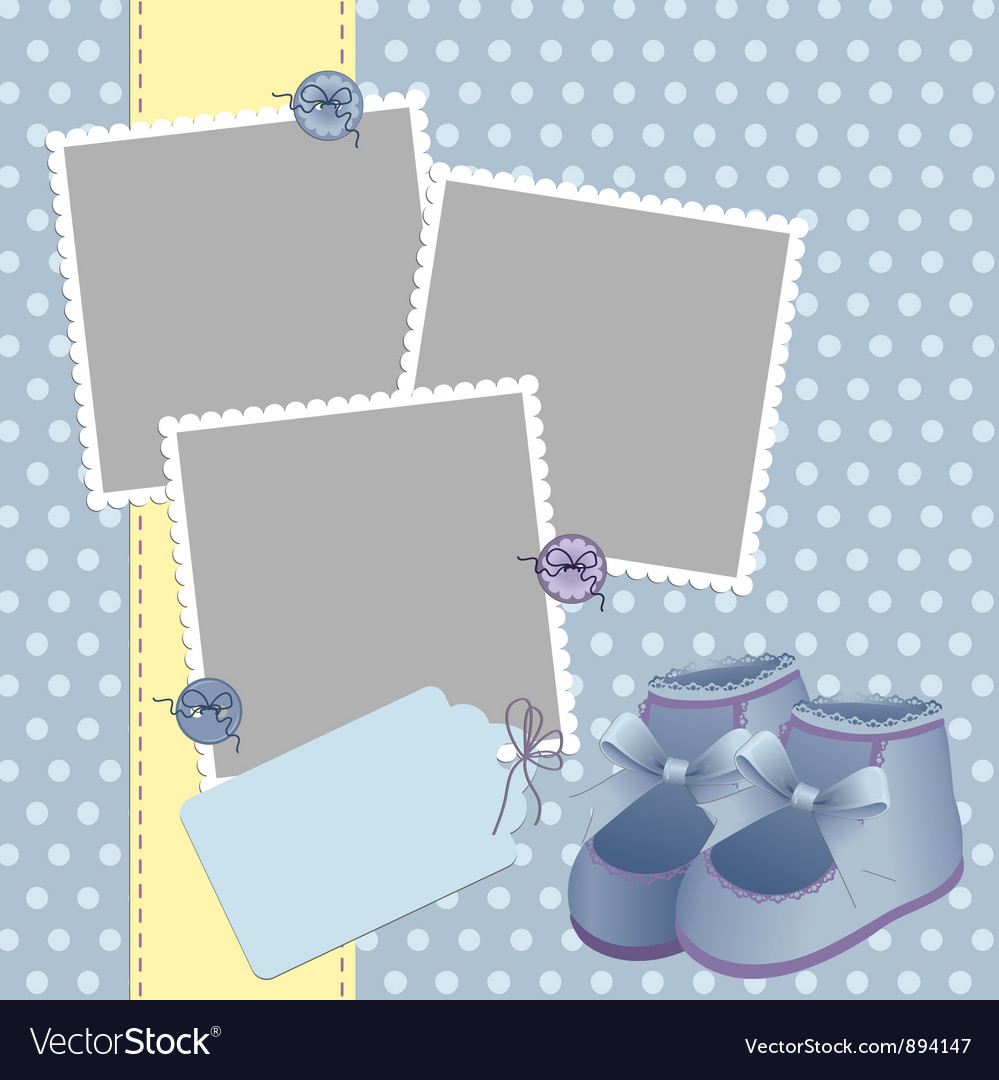 Cute template for babys card vector   Price: 1 Credit (USD $1)