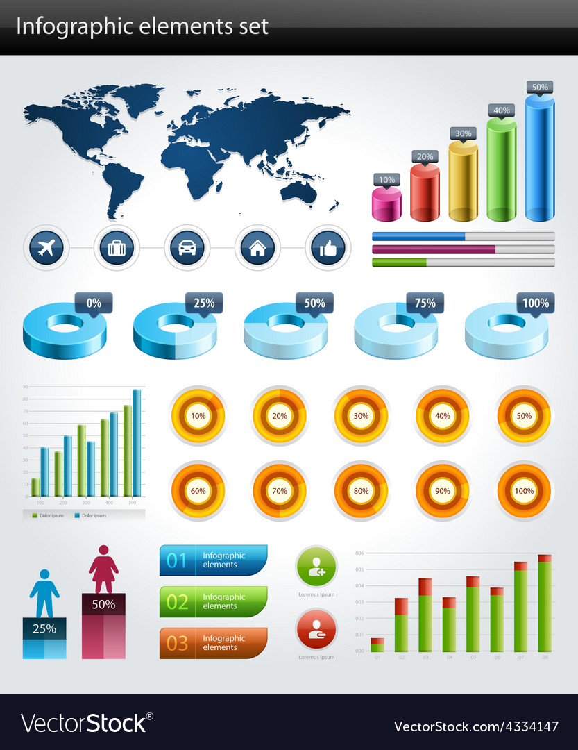 Design elements for infographic vector | Price: 1 Credit (USD $1)
