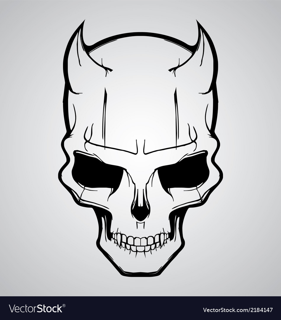 Devil skull vector | Price: 1 Credit (USD $1)