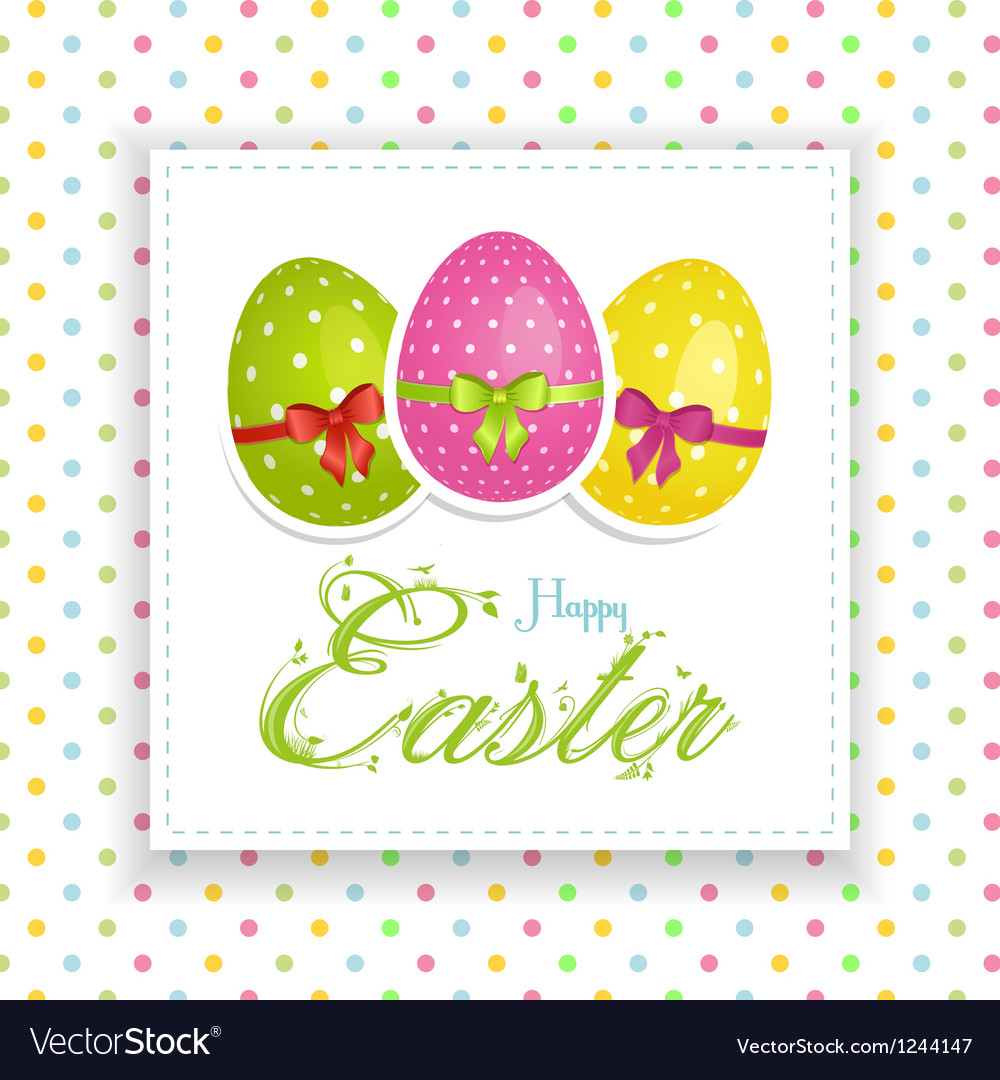 Easter egg panel vector | Price: 1 Credit (USD $1)