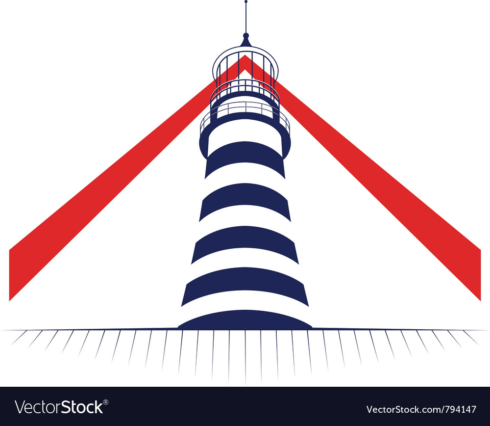 Lamp of lighthouse tower icon vector | Price: 1 Credit (USD $1)