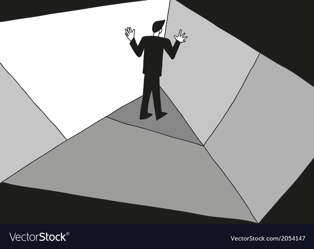 Man in the corner vector | Price: 1 Credit (USD $1)