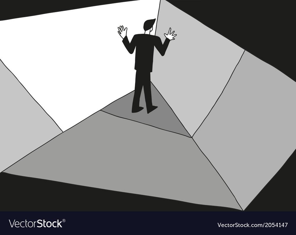 Man in the corner vector | Price: 1 Credit (USD $1)