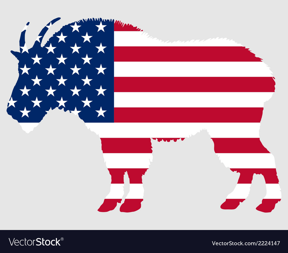 Mountain goat usa vector | Price: 1 Credit (USD $1)