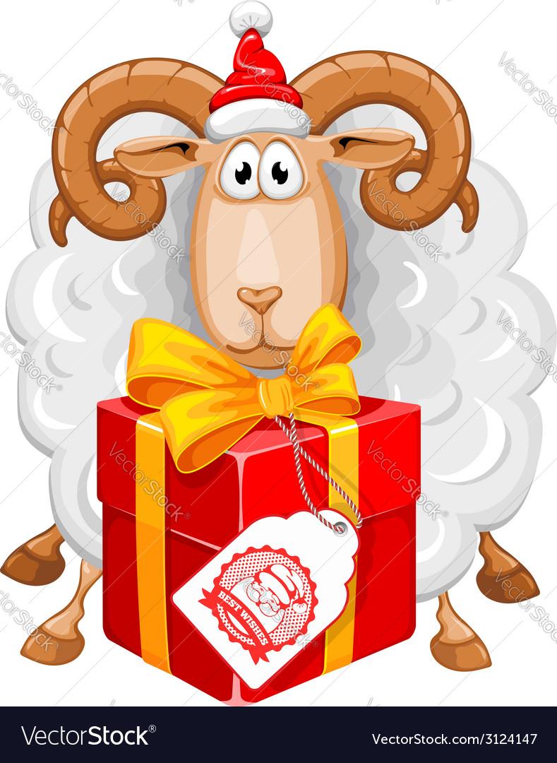 Sheep christmas vector