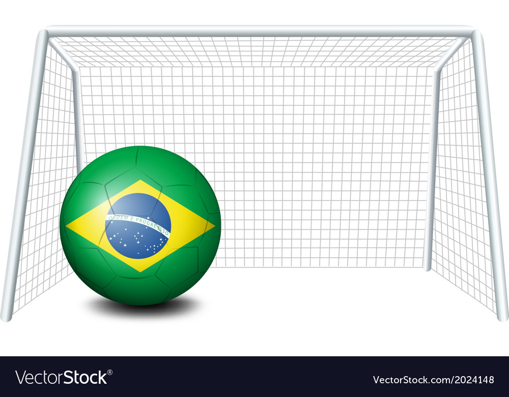 A soccer ball with the flag of brazil vector | Price: 1 Credit (USD $1)