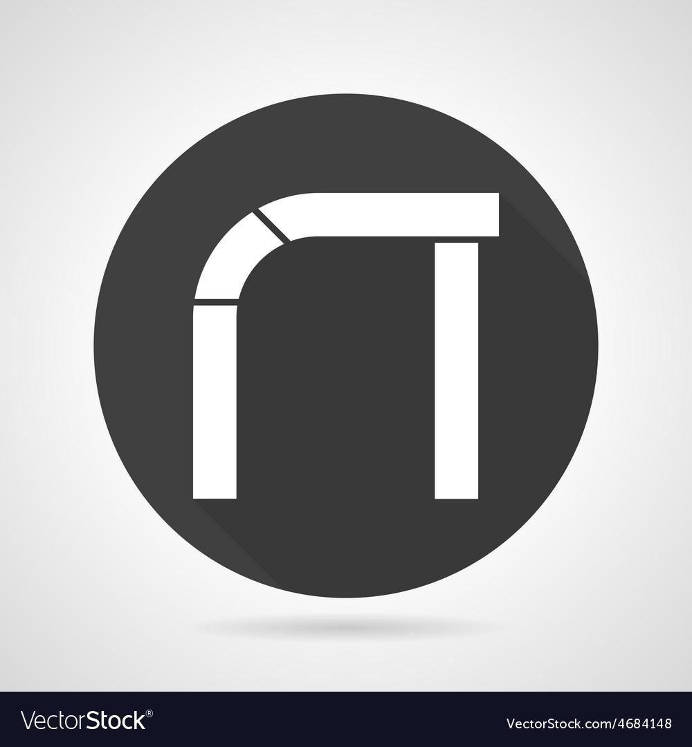 Asymmetric arch black round icon vector | Price: 1 Credit (USD $1)
