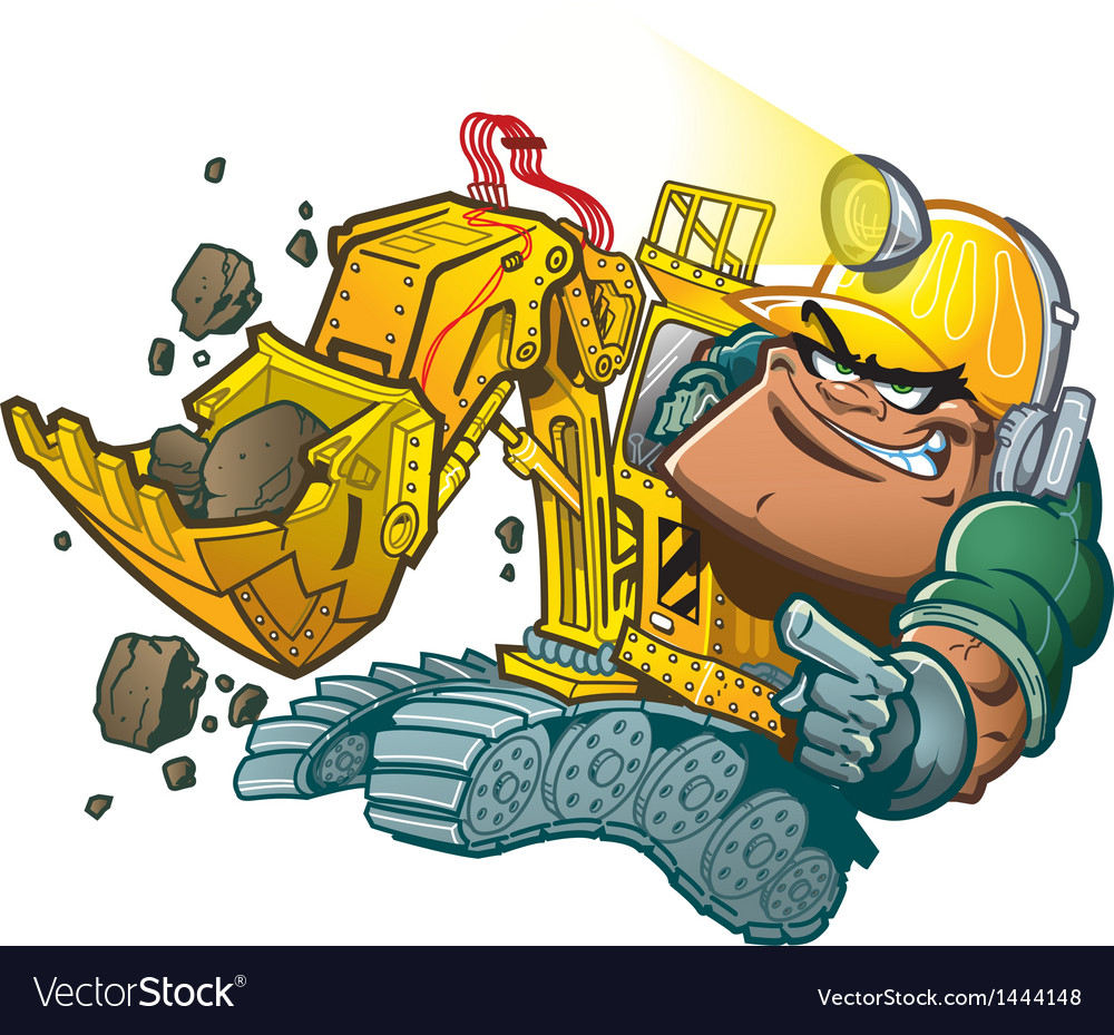 Backhoe driver vector | Price: 3 Credit (USD $3)
