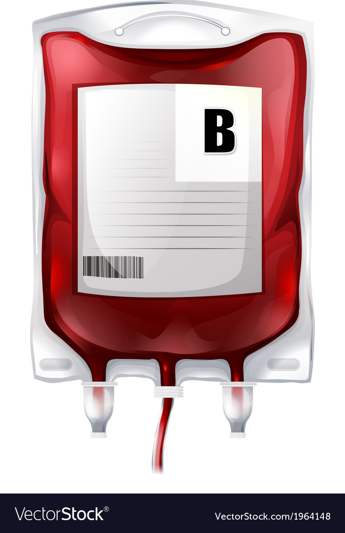 Blood bag b vector | Price: 1 Credit (USD $1)