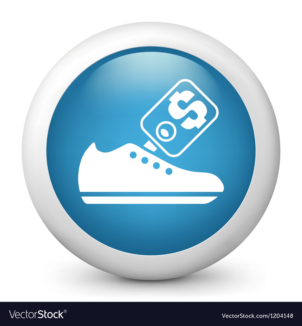 Buying shoes glossy icon vector | Price: 1 Credit (USD $1)
