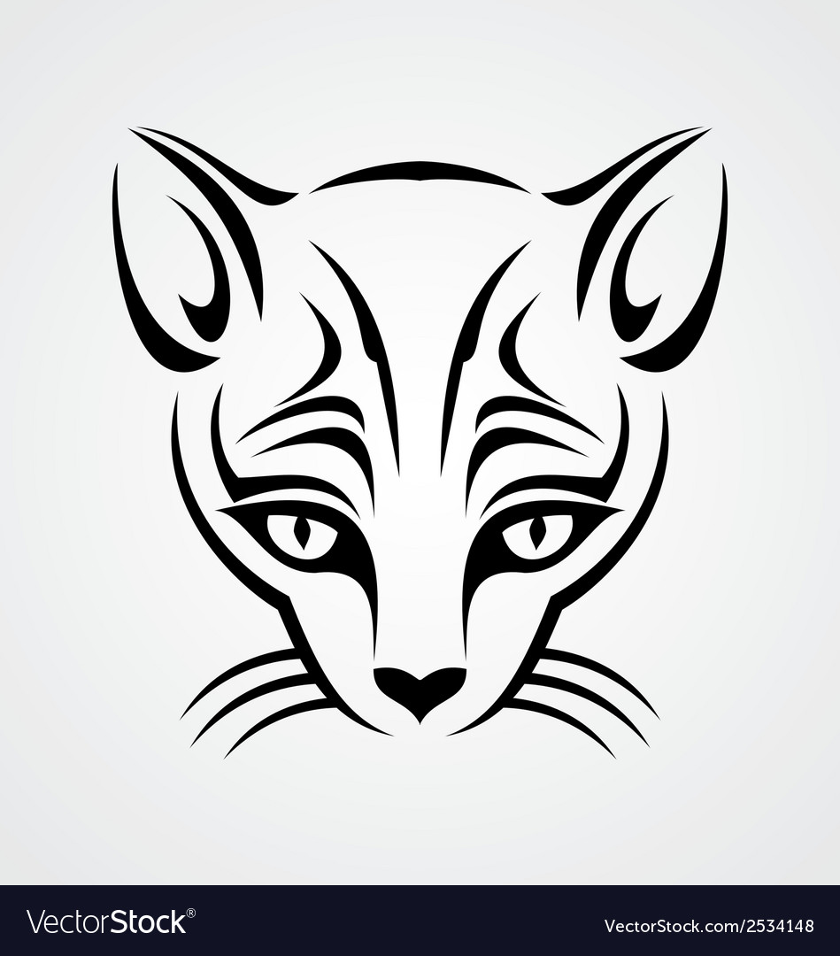 Cat tattoo design vector | Price: 1 Credit (USD $1)