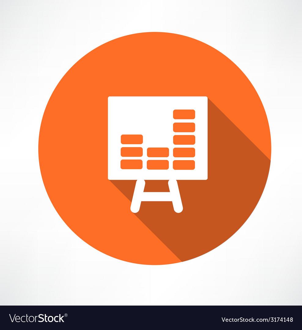 Chart icon vector | Price: 1 Credit (USD $1)