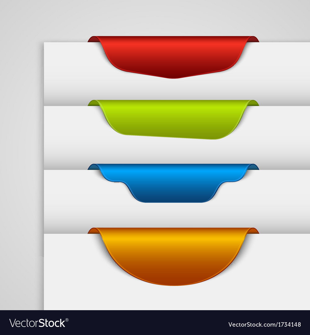 Color label bookmark on the edge of the web page vector | Price: 1 Credit (USD $1)