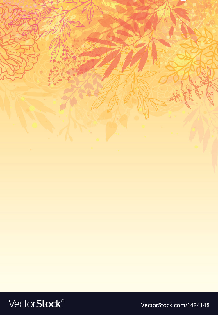 Glowing fall plants vertical background vector | Price: 1 Credit (USD $1)