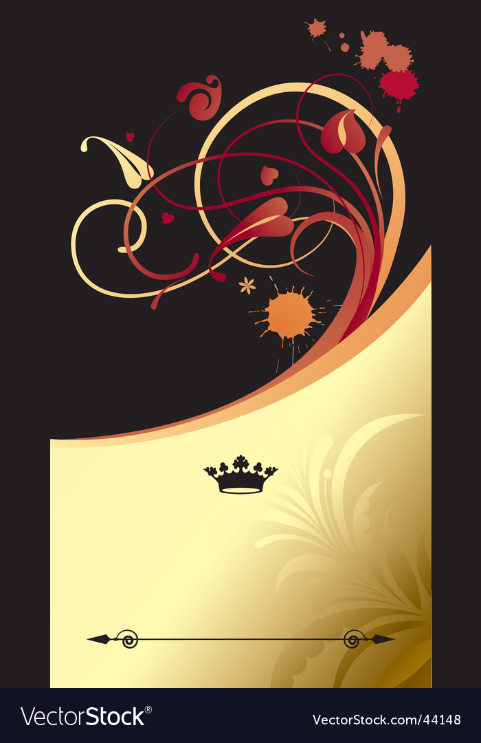 Gold classic background vector | Price: 1 Credit (USD $1)