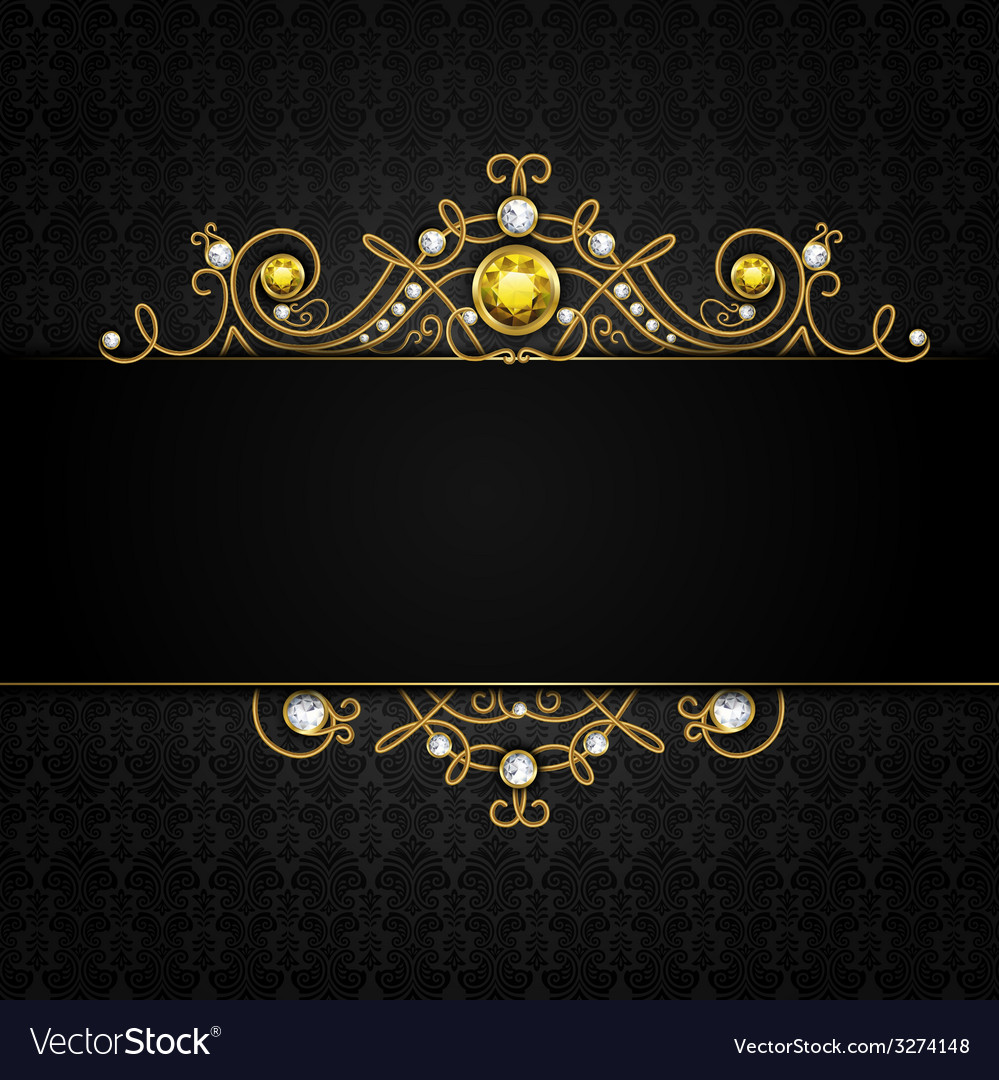 Jewellery black background vector | Price: 1 Credit (USD $1)
