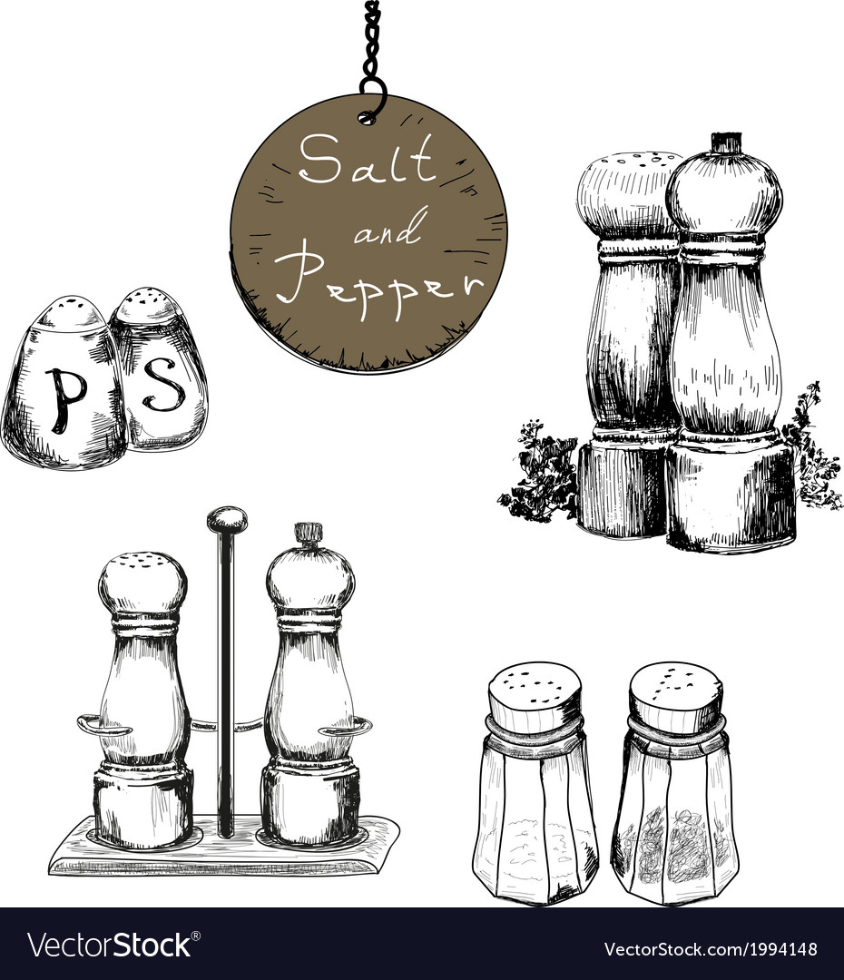 Salt and pepper vector | Price: 1 Credit (USD $1)