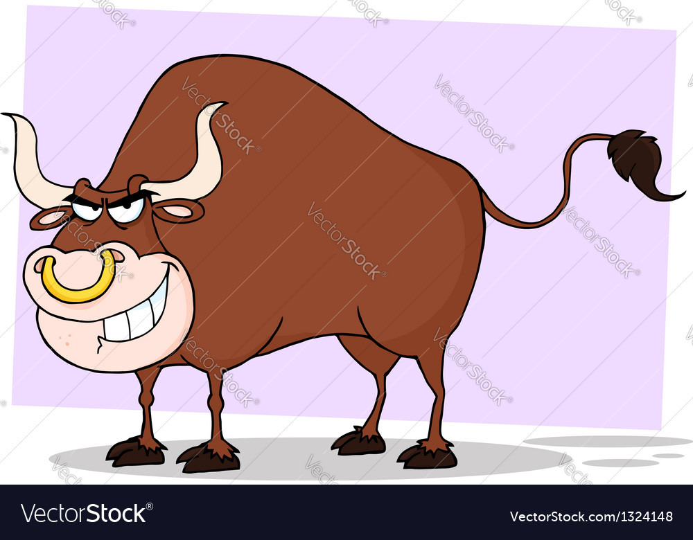 Tough bull grinning vector   Price: 1 Credit (USD $1)