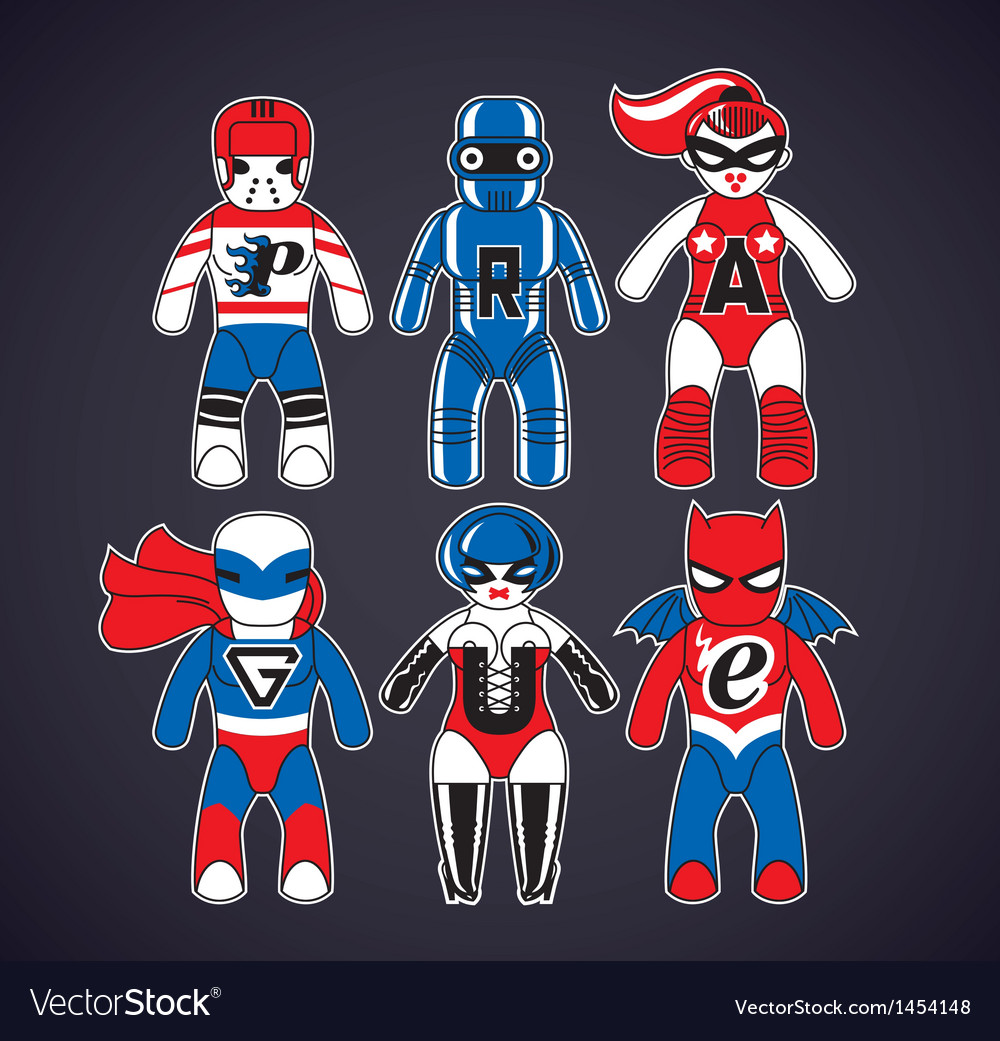 Toy superheroes vector | Price: 1 Credit (USD $1)