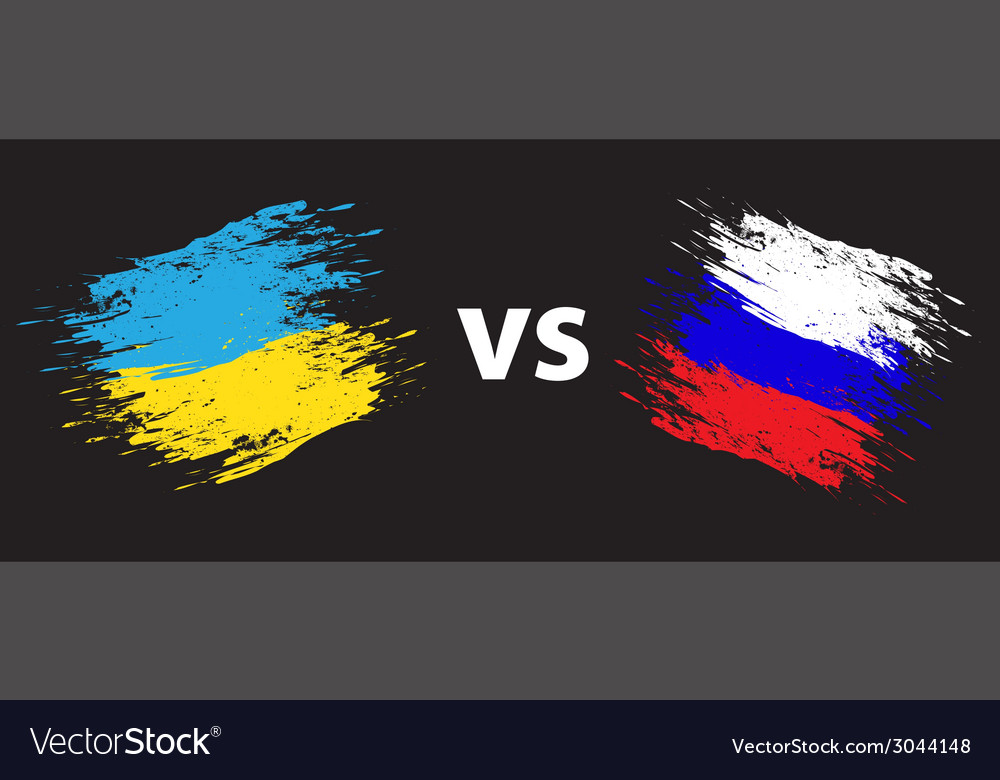 Ukraine and russia vector | Price: 1 Credit (USD $1)
