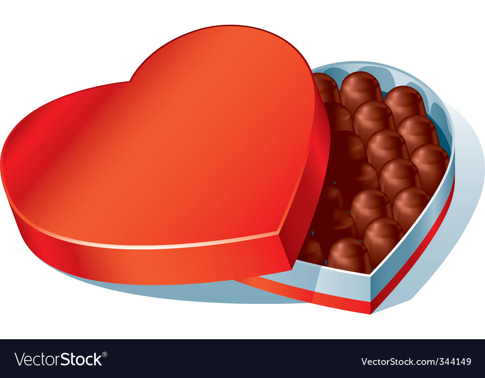 Chocolate heart box vector | Price: 1 Credit (USD $1)