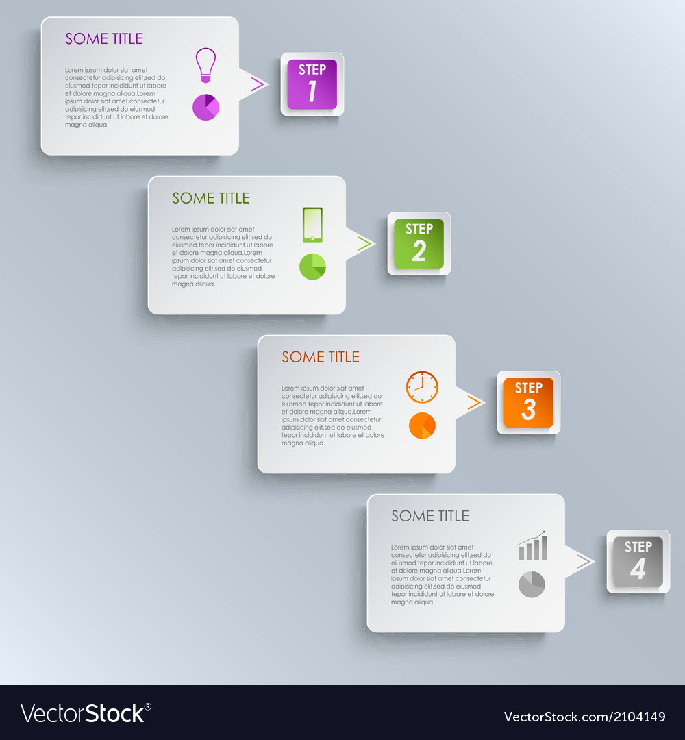 Info graphic steps design template vector | Price: 1 Credit (USD $1)