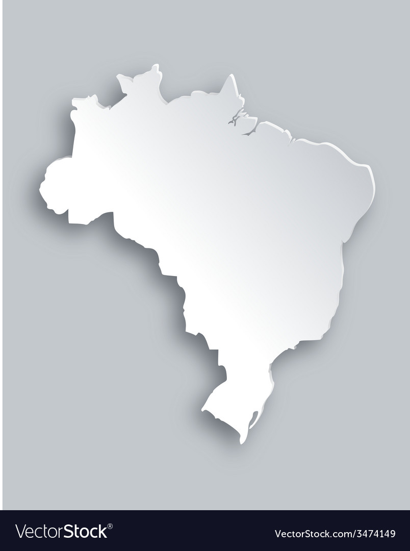 Map of brazil vector   Price: 1 Credit (USD $1)