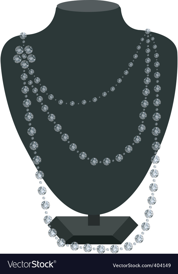 Necklace holder vector | Price: 1 Credit (USD $1)