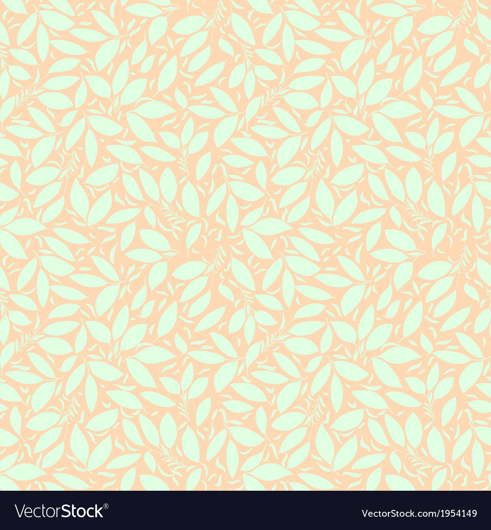 Neutral floral ornament cool green vector | Price: 1 Credit (USD $1)