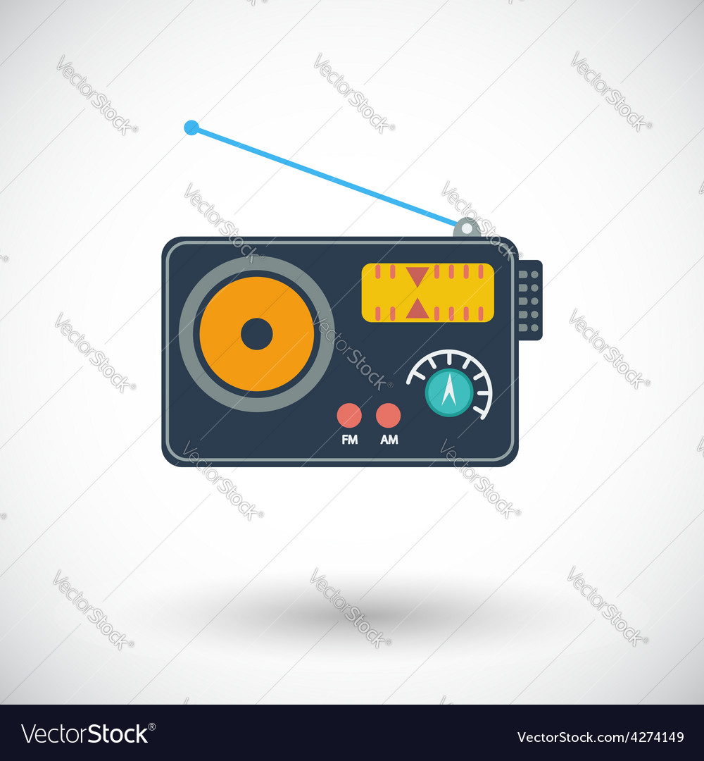 Radio single icon vector | Price: 1 Credit (USD $1)