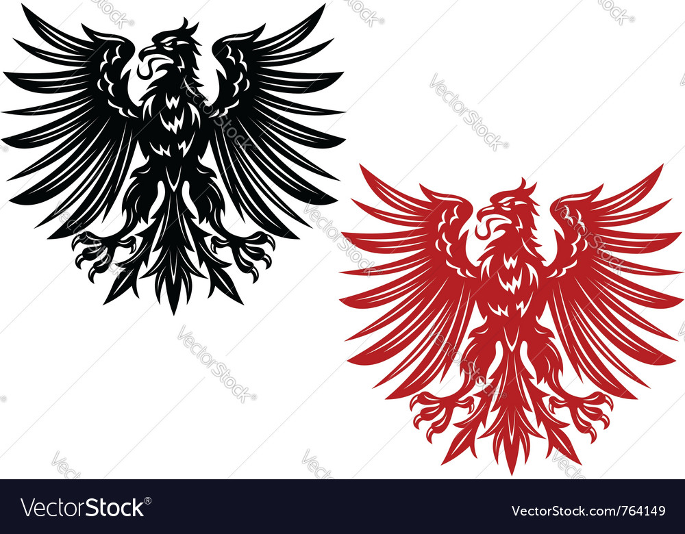 Red and black eagles vector | Price: 1 Credit (USD $1)