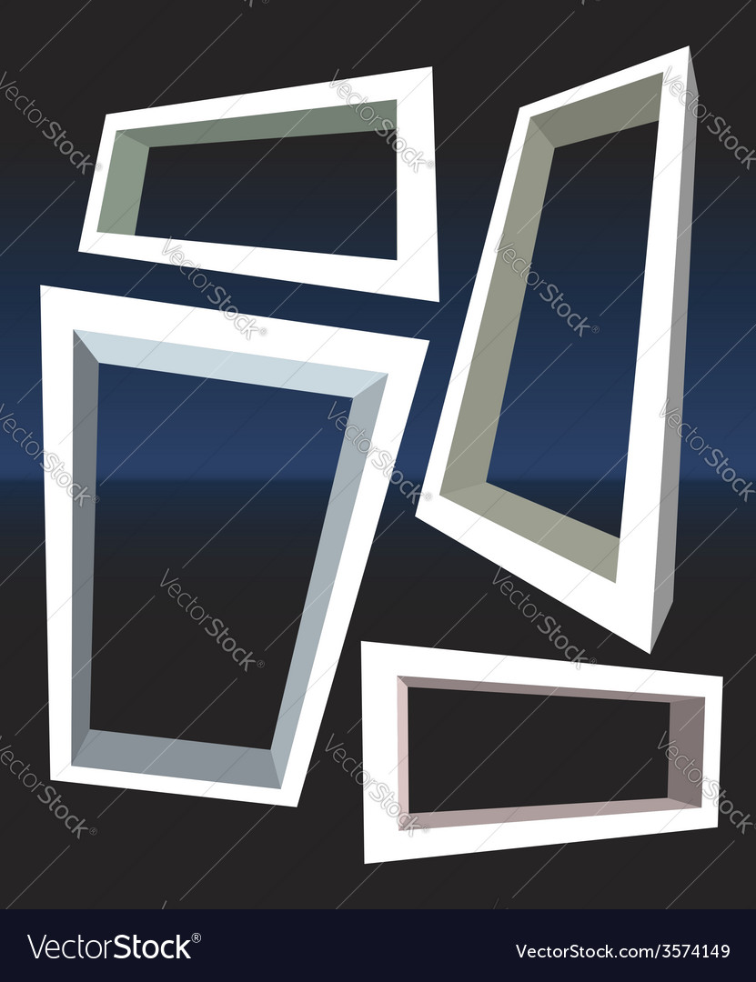 Set of perspective frames vector | Price: 1 Credit (USD $1)
