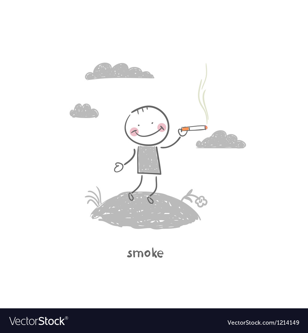 Smoker vector | Price: 1 Credit (USD $1)