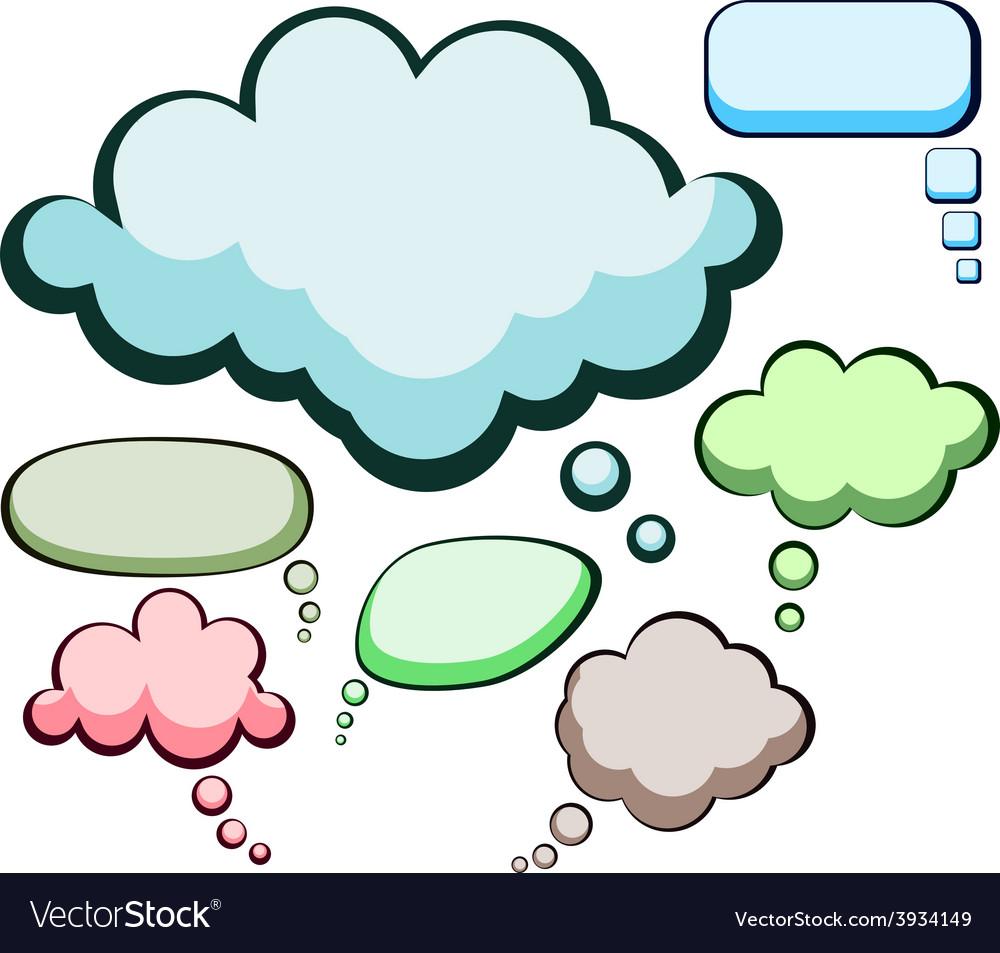 Speech color clouds vector | Price: 1 Credit (USD $1)
